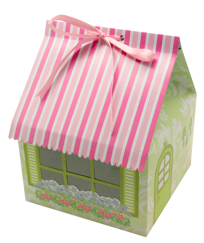 Cake Box 4 Cav. House Shape