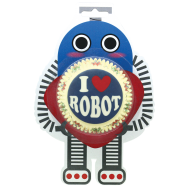 Standard Cupcake Case I Love Robot