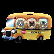 Mini Cupcake Case School Bus