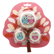 Mini & Standard Cupcake Case Owl Family